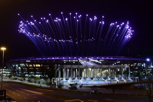 La cérémonie d'ouverture des Jeux olympiques de Rio... (Photo Tasso Marcelo, AFP)