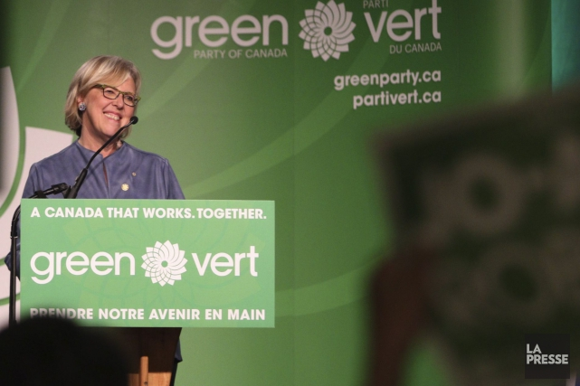 La chef du Parti vert, Elizabeth May... (Photo archives La Presse Canadienne)
