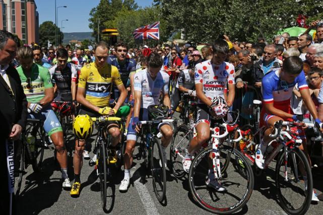 Le 16 juillet lors du tour de France,... (AP)
