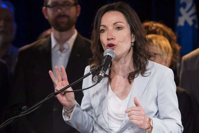 Selon l'auteur, Martine Ouellet est la seule candidate... (Archives La Presse Canadienne, Graham Hughes)