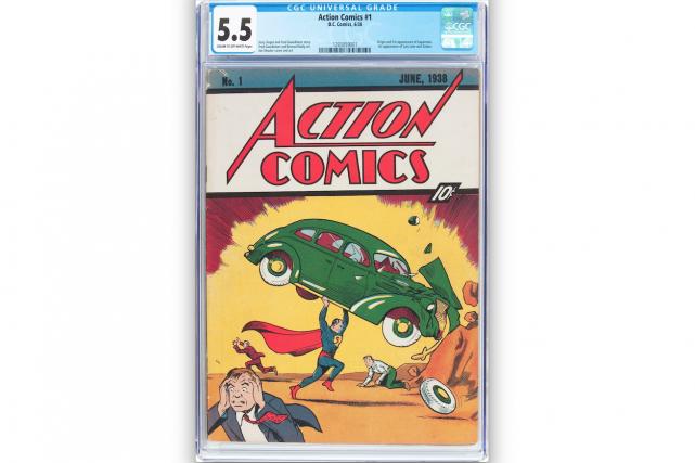 L'exemplaire d'Action Comics No. 1, offert pour 10... (AP, Jose Hernandez/Heritage Auctions)