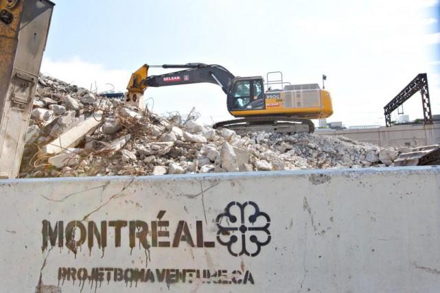 Dans le cadre des travaux sur l'autoroute Bonaventure,... (PHOTO OLIVIER JEAN, LA PRESSE)