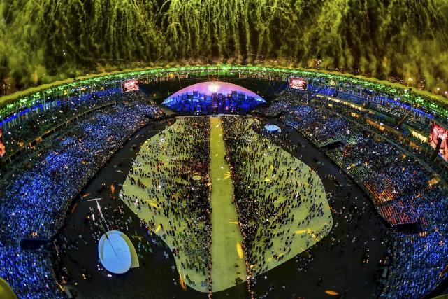 Le spectacle d'ouverture des Jeuxvisait à rendre hommage... (AFP, François-Xavier Marit)