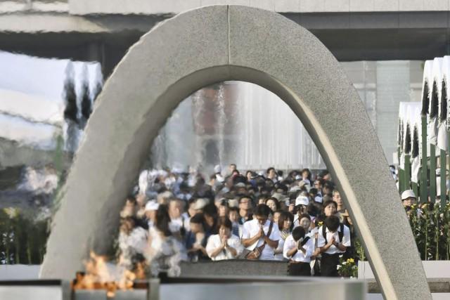 Samedi, environ 50000participants, dont le premier ministre japonais... (PHOTO KEIJI UESHO, AP/KYODO NEWS)