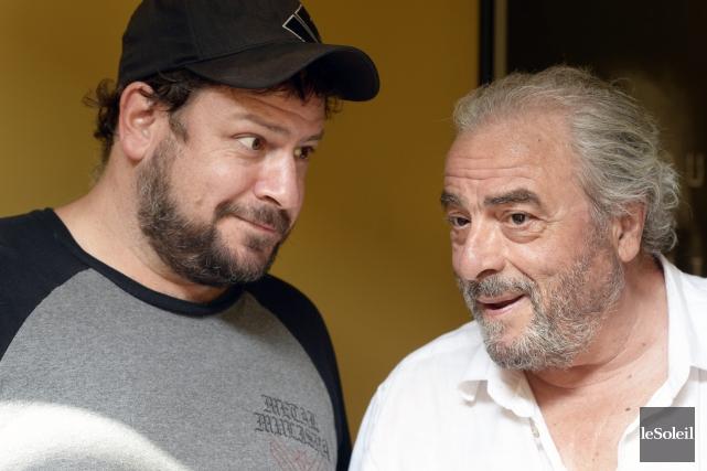 Le cinéaste Jimmy Larouche et le comédien Dino... (Archives Le Soleil)
