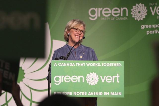 Elizabeth May,qui dirige le Parti vert du Canada... (Archives La Presse Canadienne, Chad Hipolito)