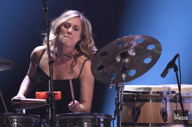 Mélissa Lavergne sera aux percussions, en plus d'assumer... (Archives La Presse, Bernard Brault)