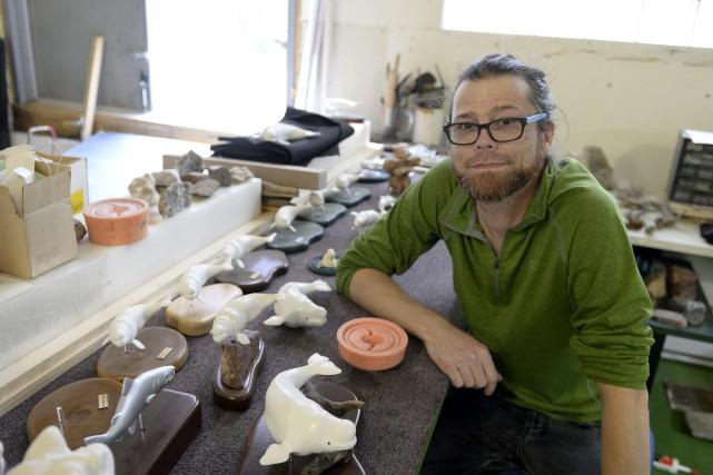 Yann Tremblay, artiste multidisciplinaire de Chicoutimi, s'est lancé... (Photo Le Progrès-Dimanche, Jeannot Lévesque)