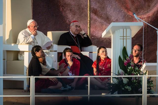 Le pape François a rencontré la jeunesse catholique... (Photo AFP)