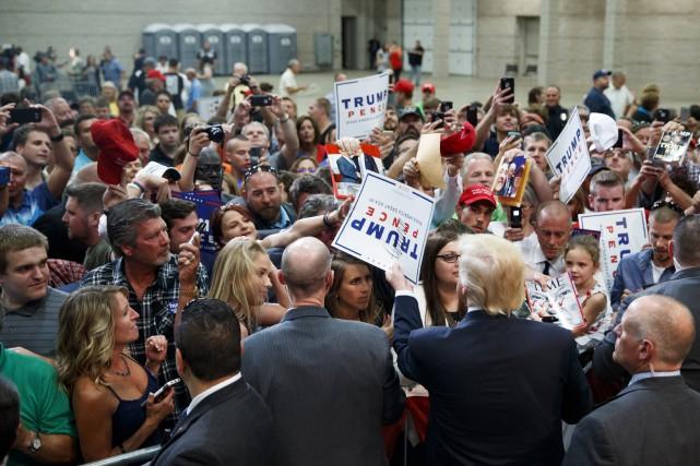 Les partians étaient nombreux lors d'un rassemblement du... (Associated Press, Evan Vucci)