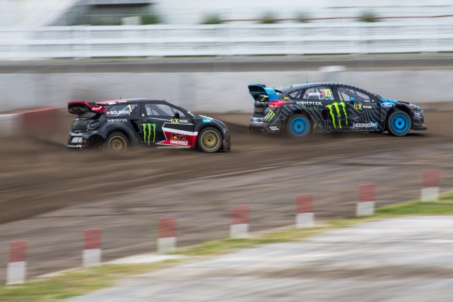 Petter Solberg (à gauche) a réalisé le meilleur... (Photo: Olivier Croteau)