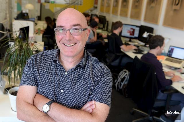 Le cofondateur de Greatify, Daniel Lafrenière, se réjouit... (Le Soleil, Erick Labbé)
