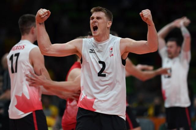 Le Canada l'a emporté en trois manches de... (AFP)