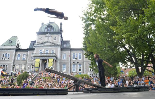 La troupe Machine de cirque a profité de... (Spectre Média, Maxime Picard)