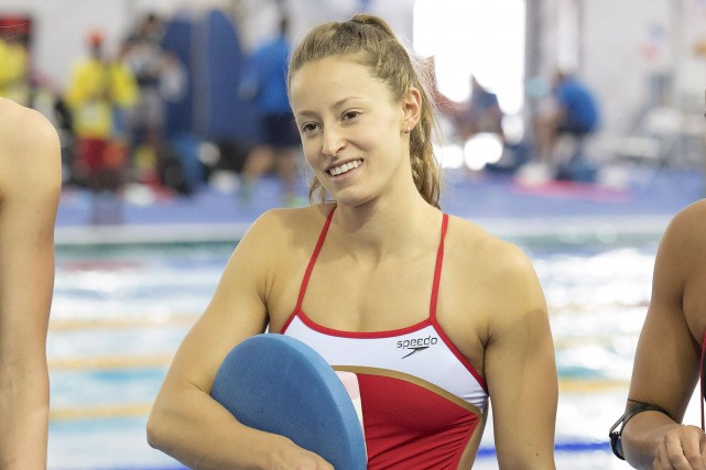 Katerine Savard, de Pont-Rouge, nagera sur l'heure du... (La Presse Canadienne Frank Gunn)