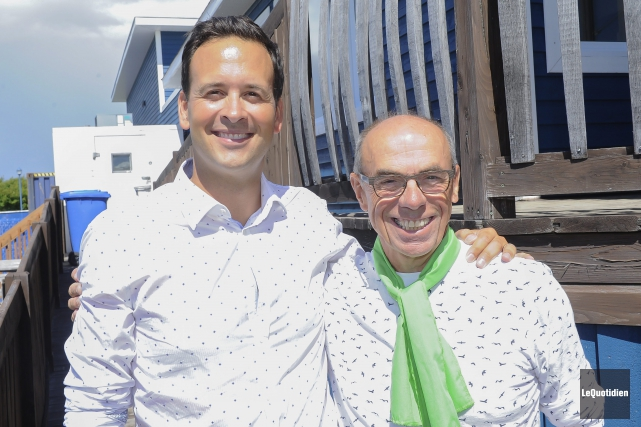 L'ancien député de Roberval, Denis Trottier, donne son... (Photo Le Quotidien, Gimmy Desbiens)