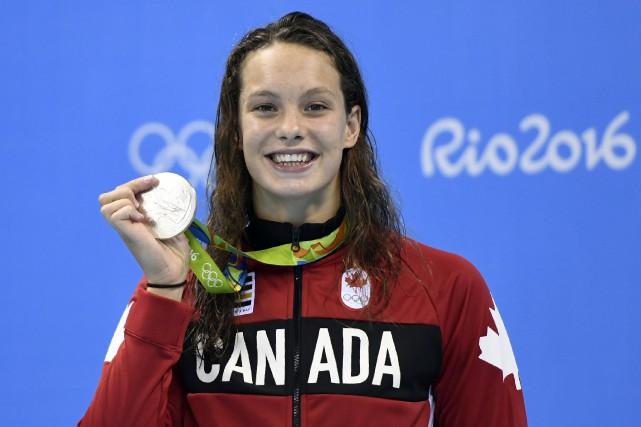 La nageuse de 16 ans a terminé l'épreuve... (AFP)