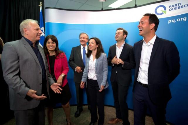 Les cinq candidats à la direction du Parti... (Photo Olivier Jean, Archives La Presse)