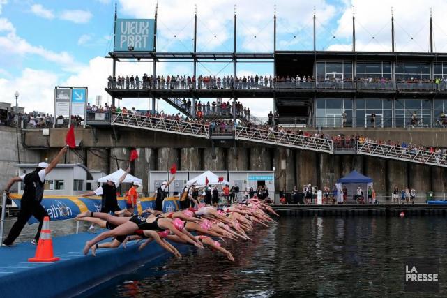 Près de 800athlètes ont pris le départ dimanche... (PHOTO ROBERT SKINNER, LA PRESSE)