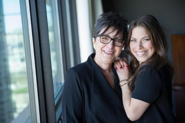 Roseline Filion et sa mère Hélène Filion.... (photo Jimmy Hamelin, fournie par le comité olympique canadien)
