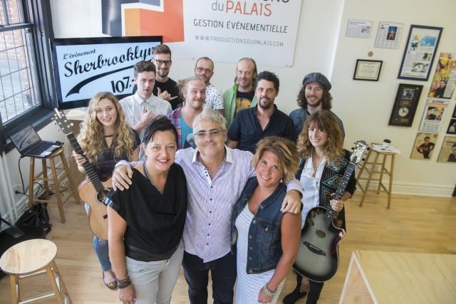 Suzie Hamel, coproductrice de l'événement, Jean-Pierre Beaudoin, des... (Spectre média, Julien Chamberland)