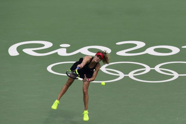Eugenie Bouchard a subi l'élimination au tournoi en... (AFP)