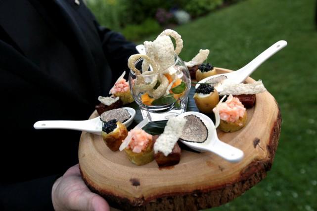 Mini-mofongos dominicains, homard et noix de coco du... (Photo fournie par le Manoir Hovey)