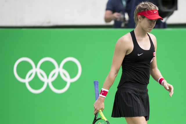 Eugenie Bouchard, de Westmount, a quitté le court... (Ryan Remiorz, La Presse Canadienne)