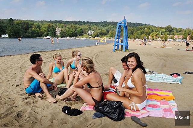 La plage du lac Saint-Joseph.... (Patrice Laroche, Archives Le Soleil)