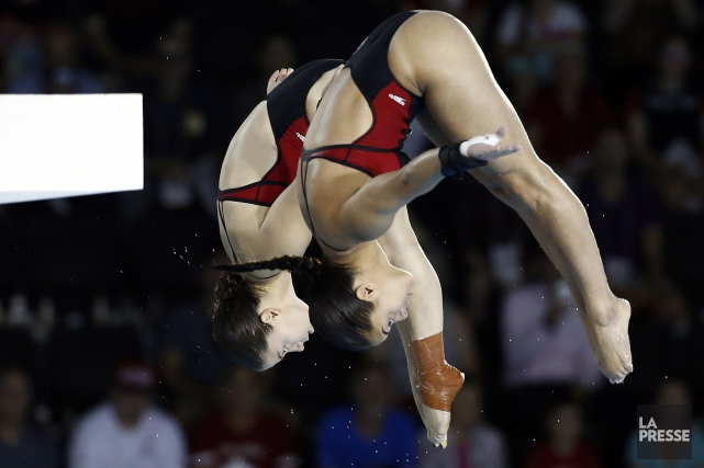 Roseline Filion et Meaghan Benfeito... (Photo Rob Schumacher, USA Today Sports)