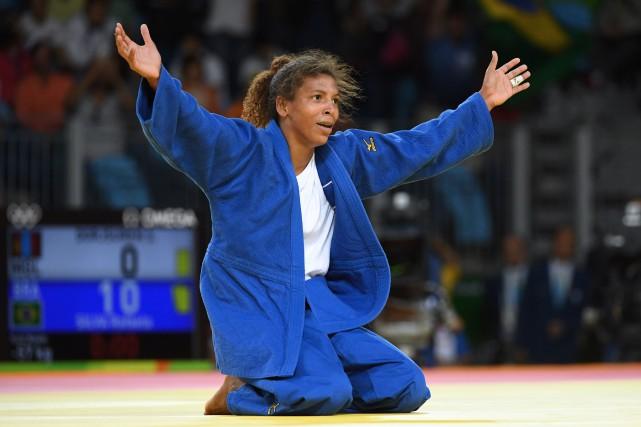 La judoka Rafaela Silva a offert au Brésil... (Photo Toshifumi KITAMURA, AFP)