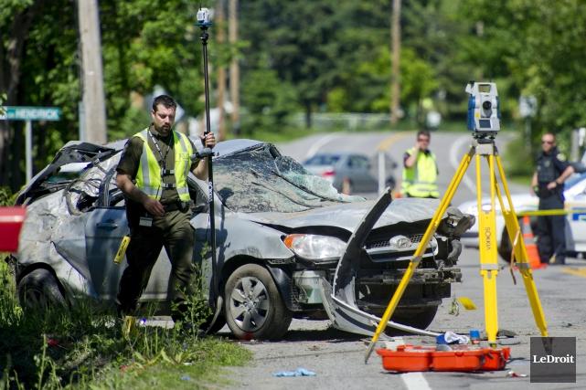 La voiture de Justine Forest avait dérapé, fait... (Martin Roy, Archives LeDroit)