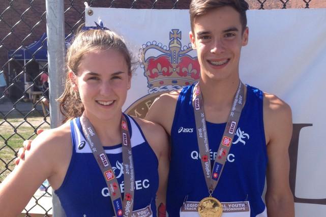 Marie-Frédérique Poulin (400 mètres) et Éliott Héroux (1500... (Courtoisie)