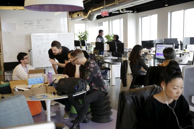 Les employés de Jet.com dans leurs bureaux situés... (AP, Seth Wenig)