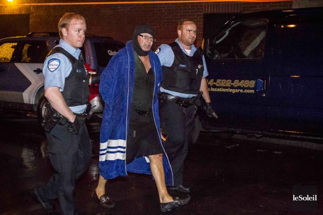 Richard Henry Bain, lors de son arrestation le4... (Photothèque Le Soleil)