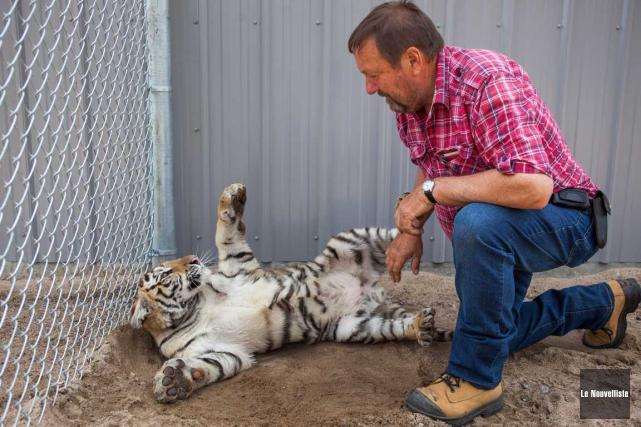Le propriétaire du Zoo de Saint-Édouard, Normand Trahan,... (Olivier Croteau, Le Nouvelliste)