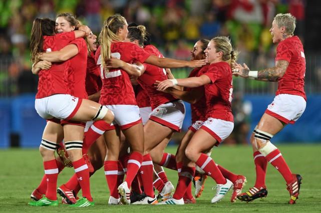 Les Canadiennes ont été dominantes dans ce match... (La Presse Canadienne)