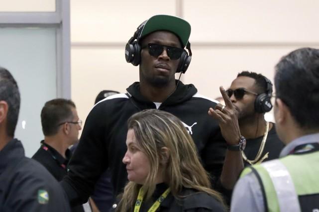 Usain Bolt a donné tout un spectacle lors... (AP)