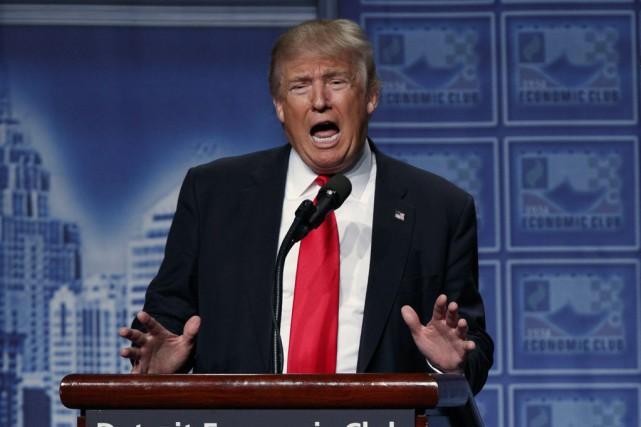 Donald Trumpest à la traîne dans les sondagesaprès... (Photo Evan Vucci, Archives AP)