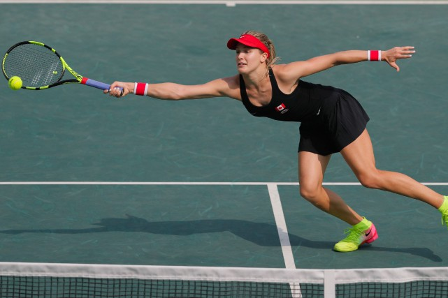 Eugenie Bouchard... (Photo Vadim Ghirda, AP)