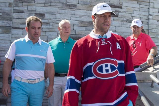 Shea Weber a paradé dans ses nouvelles couleurs... (La Presse Canadienne, Paul Chiasson)