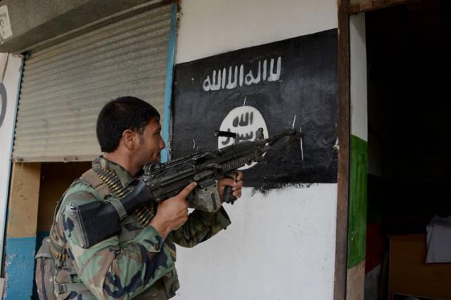 Un soldat afghan en patrouille dans la province... (PHOTO AFP)
