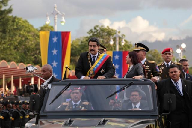 Nicolas Maduro participait jeudi dernier à une cérémonie... (PHOTO REUTERS)