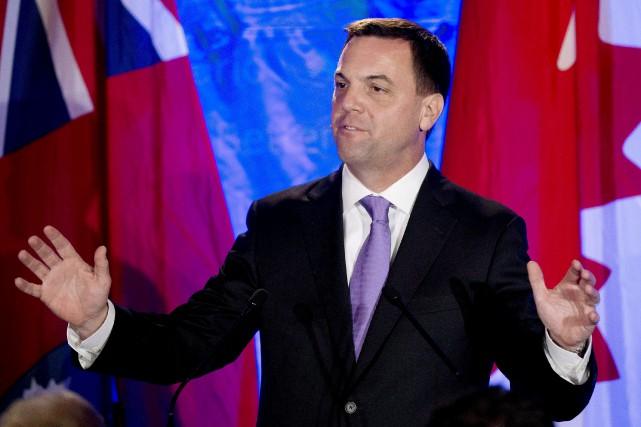 Tim Hudak avait été élu chef du Parti... (Nathan Denette, Archives PC)