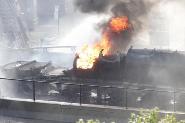 Incendie d'un camion-citerne sur l'autoroute 40, à Montréal :Vous connaissez...