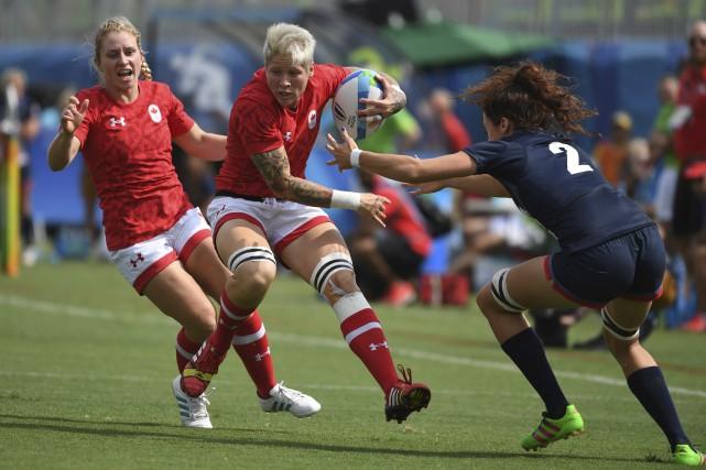 La capitaine de l'équipe canadienne de rugby à... (AFP, Pascal Guyot)