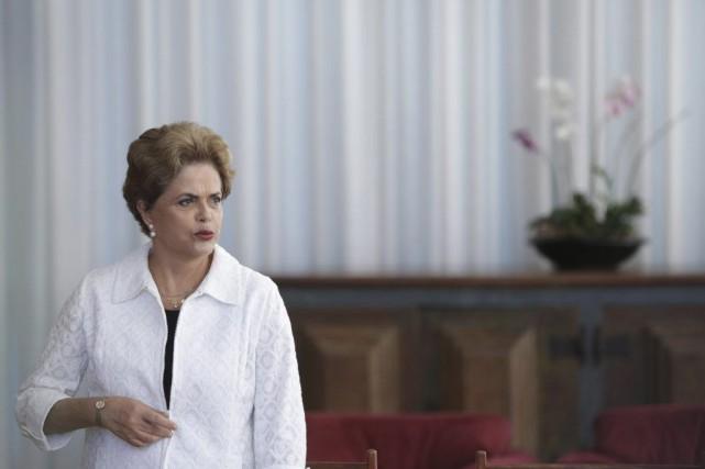 DilmaRousseff, suspendue depuis le mois de mai sous... (Photo Eraldo Peres, archives AP)