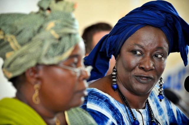 L'ex-ministre, militante et auteure malienneAminata Traoré lors d'un... (PhotoGEORGES GOBET, archives Agence France-Presse)