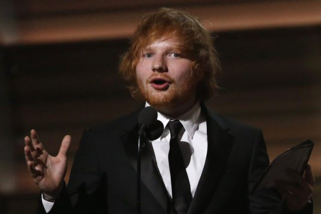Ed Sheeran aux Grammy Awards en février dernier.... (PHOTO ARCHIVES REUTERS)