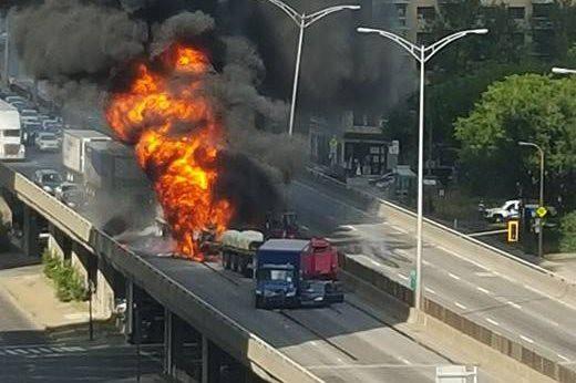 Le camionneur qui a tenté mardi de sauver... (Photo Courtoisie, Chantale Boily)